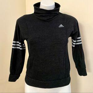 Girls 7/8 Gray Adidas Cowl Neck Sweatshirt